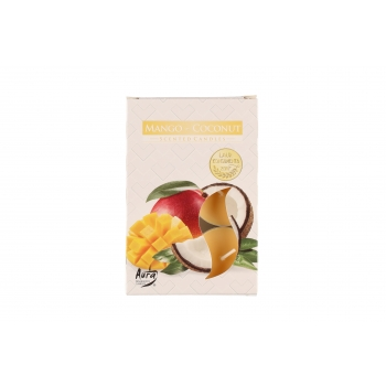 Lõhnateeküünal 6tk /3-4h Mango-Kookos