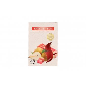 Lõhnateeküünal 6tk / 3-4h Rabarber-Pirn