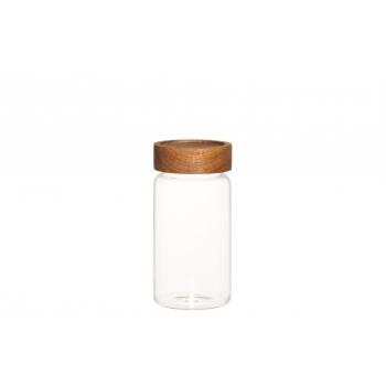 Klaaspurk Maku 8x15cm puidust kaanega