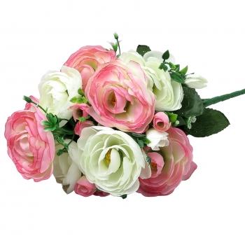 Kunstlill Tulikakimp 38cm valge/roosa