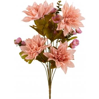 Kunstlillekimp Daalia 47cm roosa