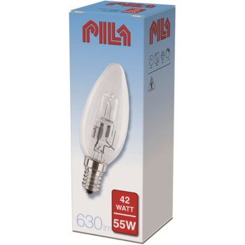 Halog.lamp EcoCl.Pila 42W E14 küünal