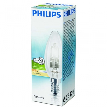 Halog.lamp EcoCl.Philips 42W E14 küünal