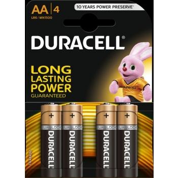 Patarei Duracell AA 4tk 1,5V alkaline