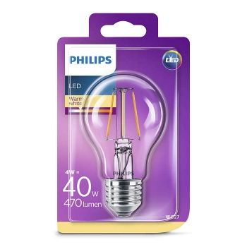 LED Filament  Philips 40W E27 A60 470lm