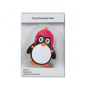 Kätesoojendaja Pingviin 14cm roosa
