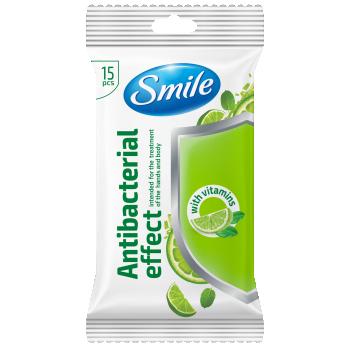 Niisked salvrätikud Smile 15tk antibakt.