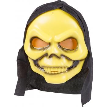 Mask kapuutsiga kollane