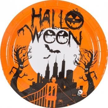 Papptaldrikud Halloween 23cm 8tk
