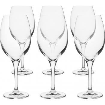 Punase veiniklaas Elite 360ml/6tk Krosno