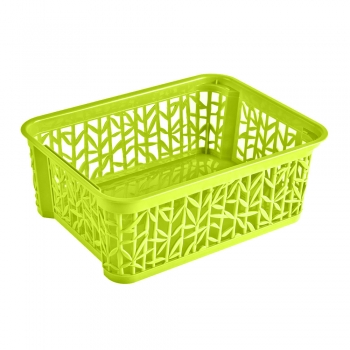 Plastkorv Bamboo23,5x17,7x8,5cm roheline