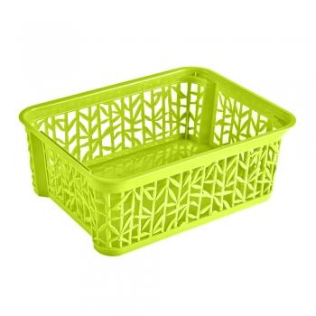 Plastkorv Bamboo 29x22x12cm roheline