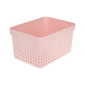 Plastkorv Seoul 35,7x26,8x20,96cm roosa