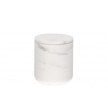 Tops kaanega Marmor keraamiline valge