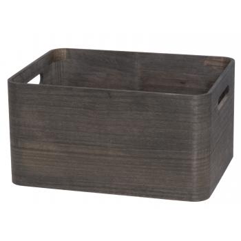 Puidust kast sangad. 32x24,5x16,5cm must