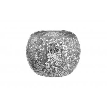 Küünlahoidik 4Living Mosaic 8,5cm hõbe