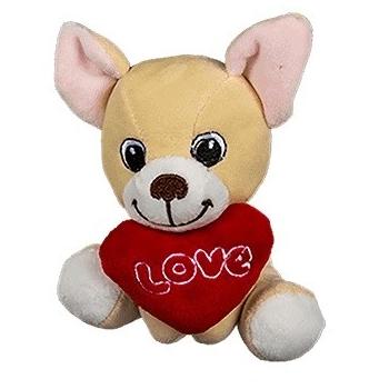 Pehme koer südamega 14cm