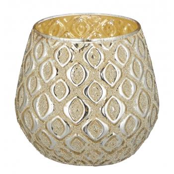 Teeküünlahoidik Diamond 10cm kuldne