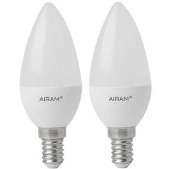 LED lamp Airam 2tk 5,5W E14 470lm küünal