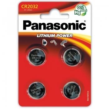 Patarei Panasonic CR2032 4tk
