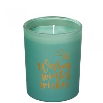 Lõhnaküünal Spaas klaasis 45h roheline