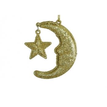 Kuusehe Kuu 6,5cm kuld