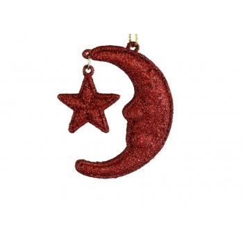 Kuusehe Kuu 6,5cm punane