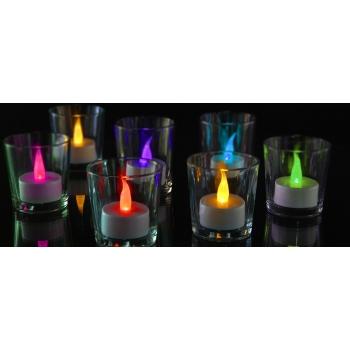 Teeküünlad LED 2tk taimeriga värvimuutev