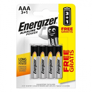 Patarei Energizer Power AAA (LR6) 3+1tk