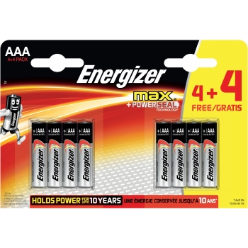 Patarei Energizer Max AAA (LR3) 4+4tk