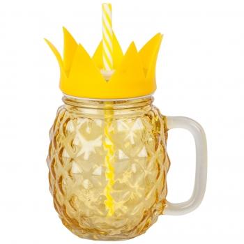 Joogipurk Pineapple 500ml kaane+kõrrega
