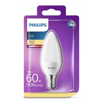 LED lamp Philips 7W E14 806lm küünal