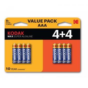 Patarei Kodak Max AAA 4+4tk