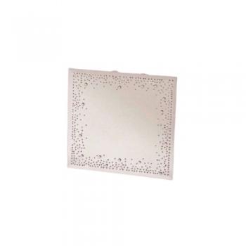 Küünlaalus peegel kristallidega 20x20cm