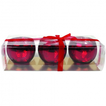 Teeküünlahoidik 3tk punane klaas