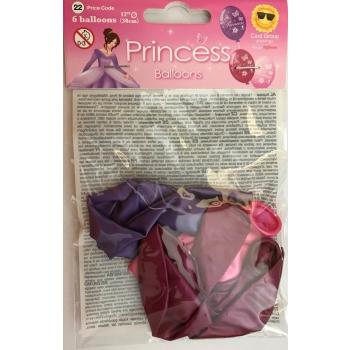 Õhupallid pärlmutter printsess 6tk