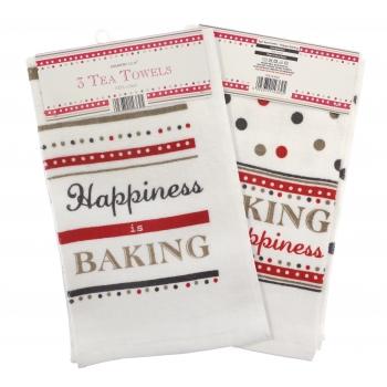 Köögirätik Happy Baking 60x40cm 3tk