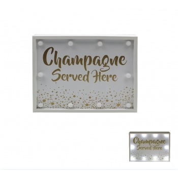 Dekoratsioon LED Champagne 24x30cm
