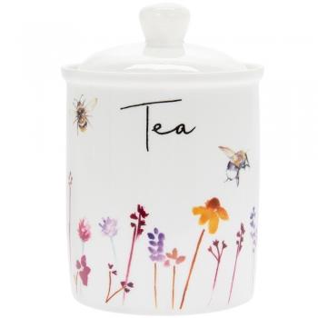 Säilituspurk tee jaoks, keraam.Mesilane