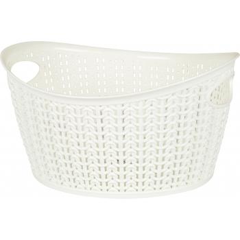 Plastkorv kootud Knitty 3,3L ovaal valge