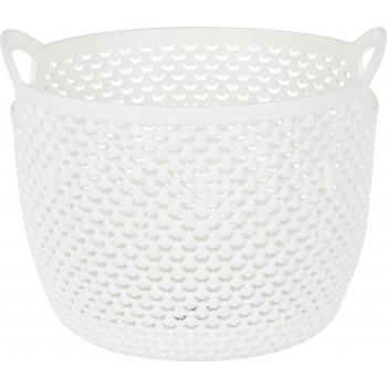 Plastkorv Drop 3,3L ümmargune valge
