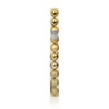 Kuusemuna Champagne gold 6cm 10tk