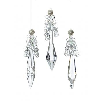 Dekoratsioon Kristall 15cm rippuv valik