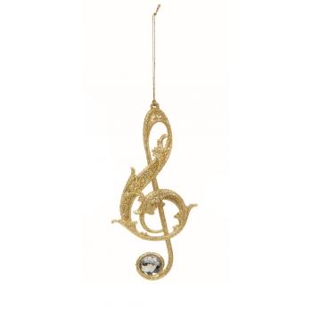 Dekoratsioon Noodid 12cm kuldne
