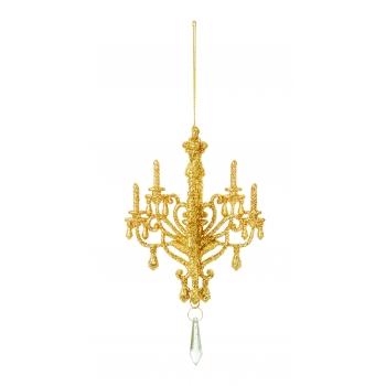 Dekoratsioon Lühter 11cm rippuv kuldne