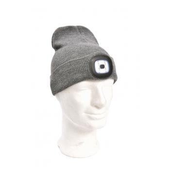 Müts LED-valgustusega USB laetav hall