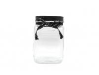 Klaaspurk 1L/10.5x10.5x15.3cm must lips