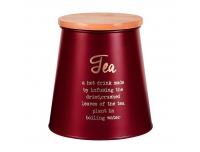 Säilituspurk tee jaoks 10,5x14cm punane