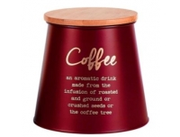 Säilituspurk kohvi jaoks10,5x14cm punane