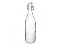 Klaaspudel 1L klamberkorgiga klaar